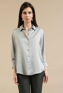 Серая блузка на пуговицах Emka B2480/sovara