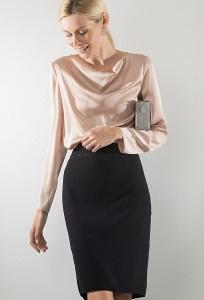 Черная юбка из крепа Emka S923/decant