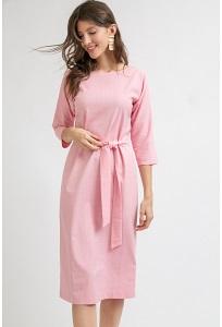 Платье розового цвета в клетку Emka PL979/gretel