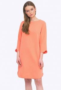 Легкое романтичное платье персикового цвета Emka PL586/smoozi
