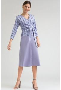 Сиреневая юбка А-силуэта Emka S859/moonlight