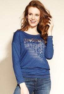 Трикотажная блузка синего цвета Zaps Helina