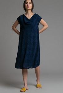 Платье А-силуэта с подкладом Emka PL1035/desert