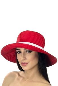 Красная летняя шляпа Del Mare 001-13
