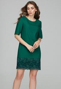 Изумрудное коктейльное платье Donna Saggia DSP-297-76