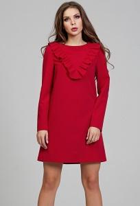 Красное романтическое платье Donna Saggia DSP-306-56