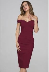 Платье футляр с открытыми плечами Donna Saggia DSP-316-67