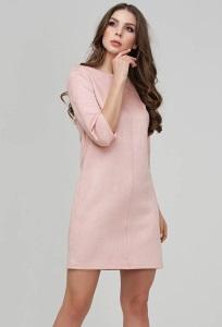 Замшевое платье розового цвета Donna Saggia DSP-315-80t