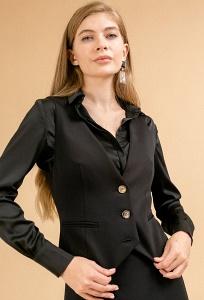 Черный офисный приталенный жилет Emka GL044/milisa