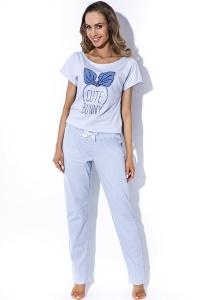 Женская голубая пижама с брюками MyMaDo Emma