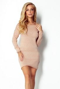 Короткое платье из пряжи Fimfi I300