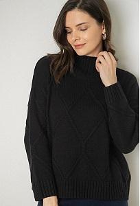 Черный свитер с высоким горлом Emka B2588/rusel