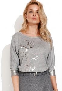 Меланжевая блузка из трикотажа Zaps Deli