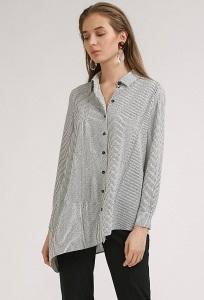 Женская рубашка с асимметричным низом Emka B2393/blondi