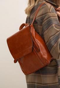 Стильный рюкзак из фактурной экокожи Emka C034/barely