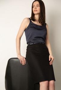 Чёрная классическая юбка-карандаш Emka S656/brest