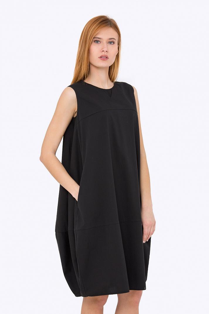 ebb1a8fb6cb Купить чёрное платье-балон без рукавов в интернет-магазине недорого ...