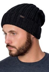 Объемная мужская шапка с отворотом Landre Джулио