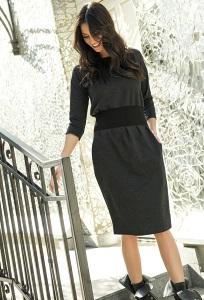 Платье графитового цвета Nuninou NU107