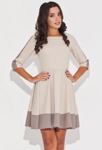 Бежевое платье Figl K057