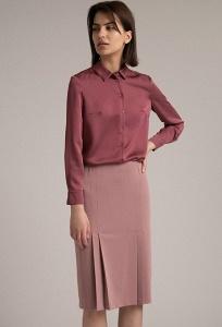 Розовая юбка А-силуэта Emka S856/caribo