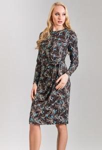 Трикотажное платье TopDesign B8 007