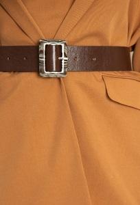 Широкий коричневый ремень Emka F004/bush