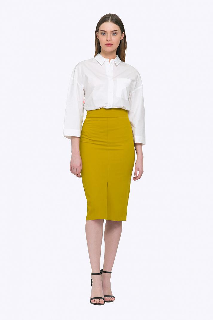 52acd2f165b Стильная юбка-карандаш горчичного цвета Emka 616 alana купить в ...
