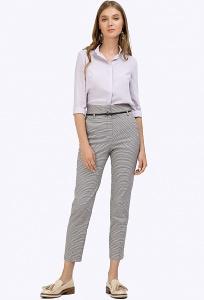 Зауженные брюки с узором гусиная лапка Emka D102/matei