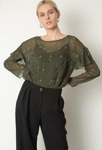 Шифоновая блуза c цветочным принтом Emka B2566/silvas