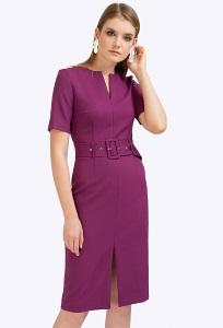 Фиолетовое платье с поясом Emka PL925/ivona