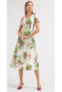 Лёгкое летнее миди-платье Emka PL830/adorn