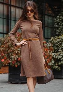 Трикотажное платье с ремнем Donna Saggia DSP-398-26t