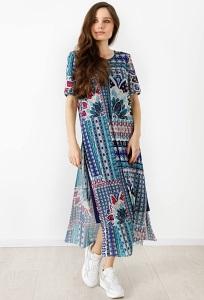 Летнее платье с подкладом TopDesign A21075