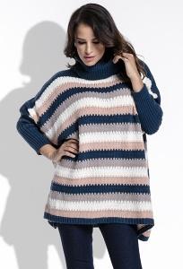 Женский свитер oversize в полоску Fimfi I211