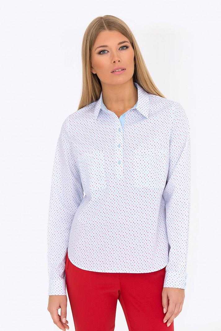 1e72ea4096a Купить блузка с воротником-стойкой из натурального хлопка Emka ...