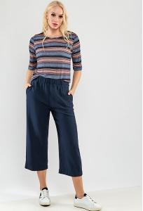 Летние широкие укороченные брюки TopDesign Premium PA9 41