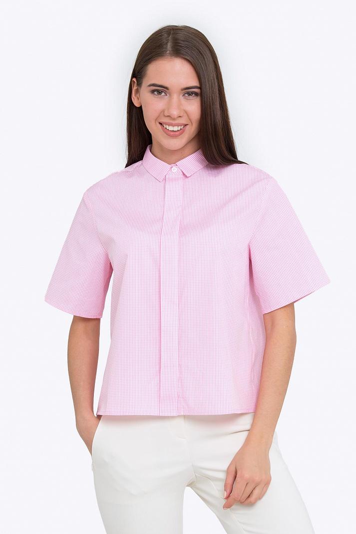 f549124c362 Купить розовую женскую рубашку с коротким рукавом Emka b 2211 ...