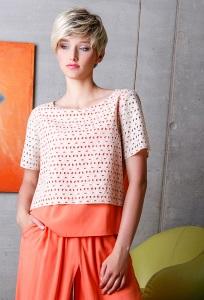 Блузка с перфорацией Flaibach 065S6