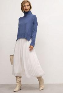 Лёгкая плиссированная юбка Emka S777/fluf