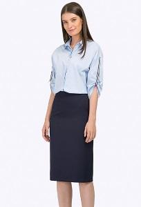 Тёмно-синяя офисная юбка Emka S775/eventus