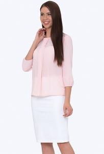 Классическая юбка-карандаш белого цвета Emka Fashion 663/alveta