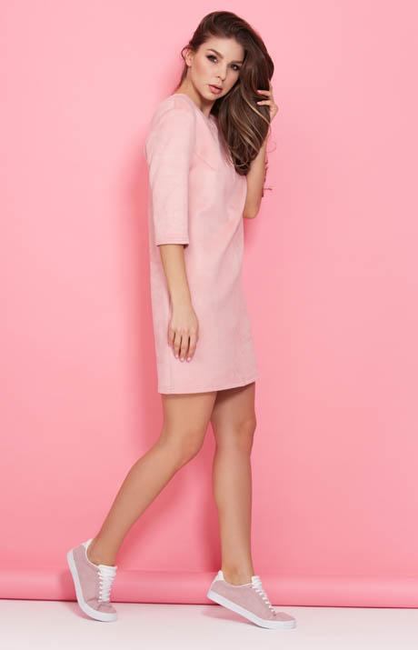354fd9583c0 Замшевое платье розового цвета Donna Saggia DSP-315-80t. Увеличить. Чтобы  увеличить изображение