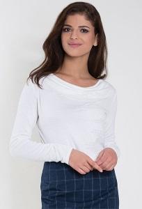 Белая блузка с вырезом-лодочка Zaps Ksymena