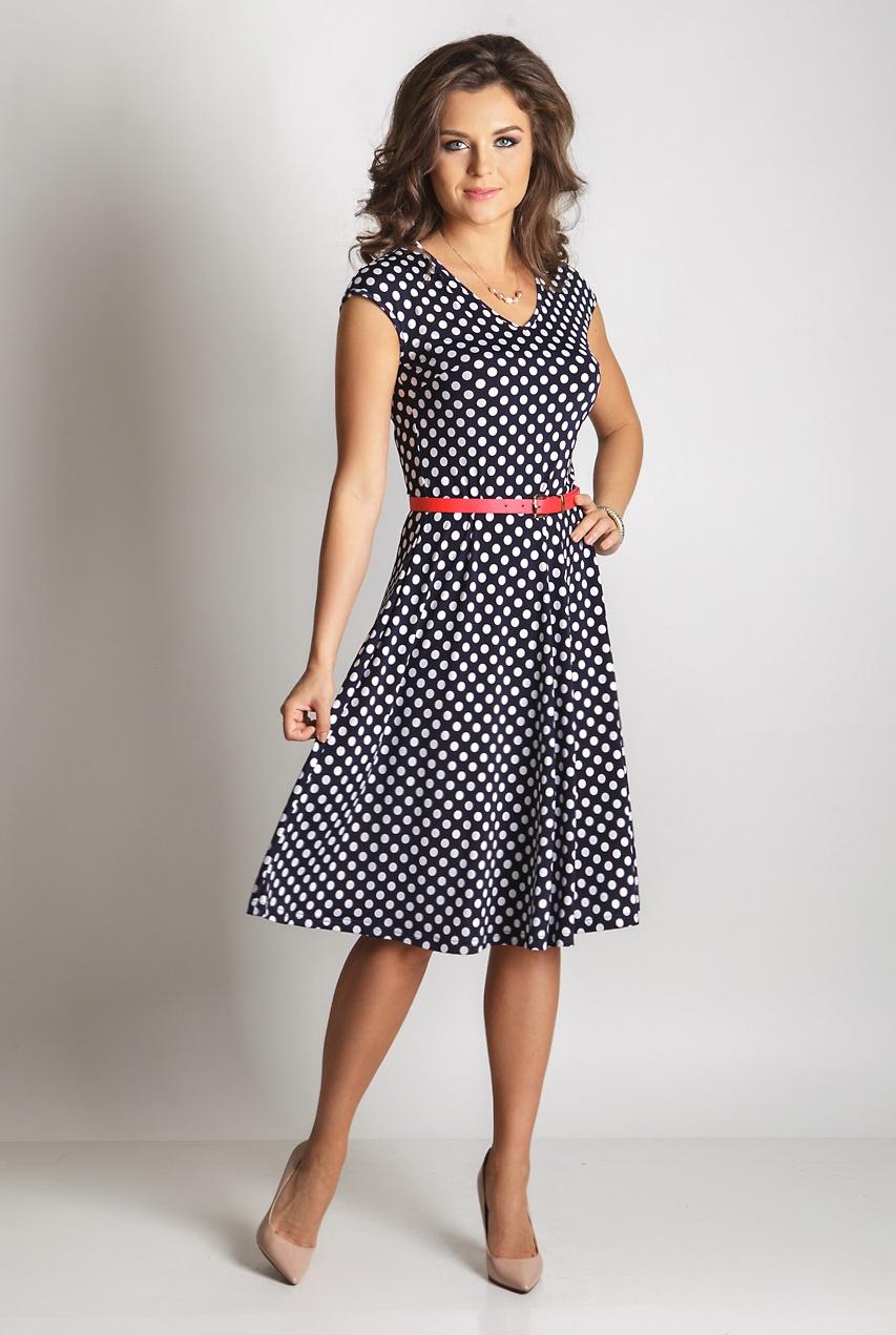 a8dc3eb0936 Летнее платье в горошек TopDesign A6 011 - идеально подойдет для ...