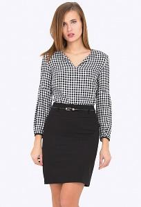 Чёрная короткая юбка Emka Fashion 202-50/milisa