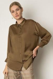 Блузка насыщенного цвета хаки Emka B2480/ryan