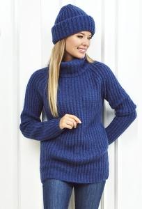 Женский свитер синего цвета Andovers Z284
