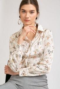 Блузка с цветочным орнаментом Emka B2348/glycinia