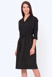 c44891f8ba1 Купить чёрное платье с рубашечным воротом в интернет-магазине ...